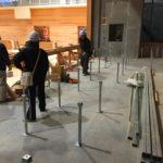 体育館床改修工事、組床式鋼製床下地及びスポーツフロア工事