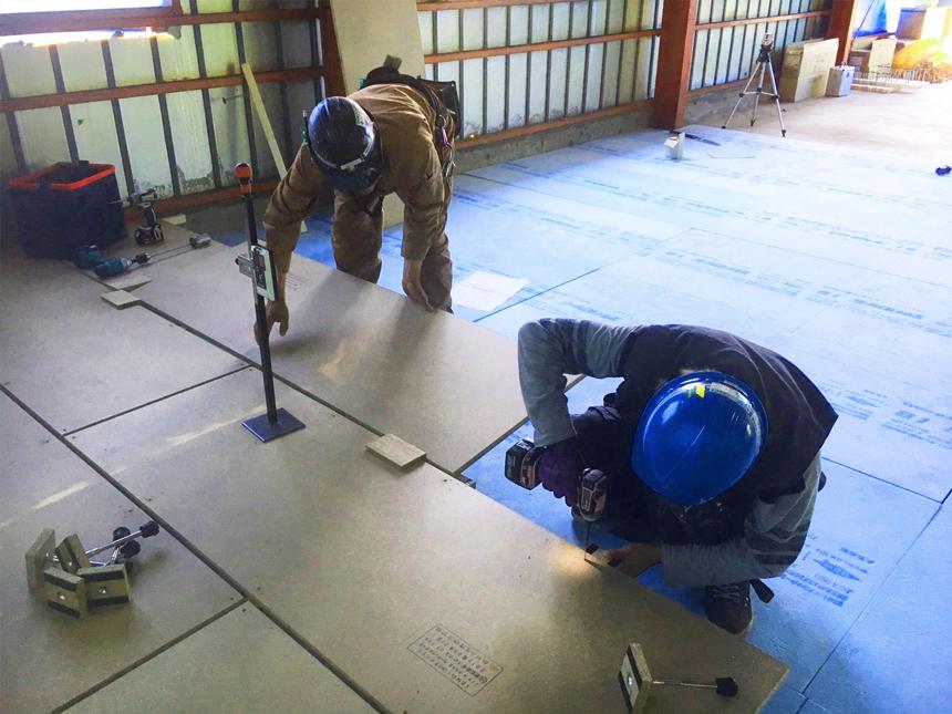 観光会社様の事務所移転新設置床・二重床工事