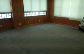 カーペット床改修工事、フローリング直貼り工事