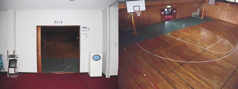 旅館、ホテル、体育館床フローリングメンテナンス再塗装施工