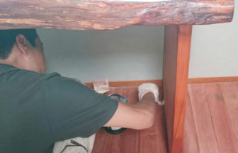 戸建て住宅カリンフローリング再生サンディング