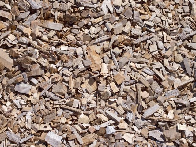 木材チップでエコロジー