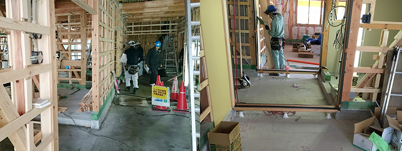 保育園新築工事、置床・乾式二重床、発泡ビーズ泡ポリスチレンフォーム施工前