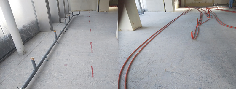 コンビニエンス置床・乾式二重床施工前
