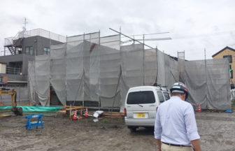 公民館大規模改修主体工事、置床・乾式二重床、フローリング貼り施工