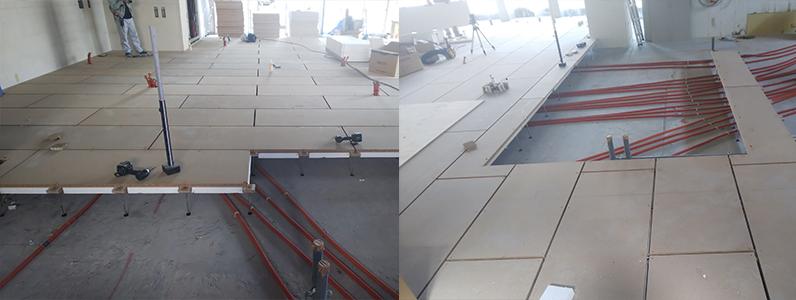 コンビニエンス置床・乾式二重床施工