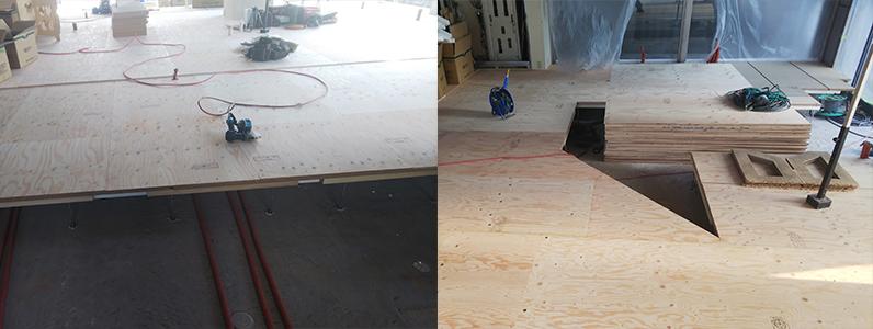 コンビニエンス置床・乾式二重床施工完了