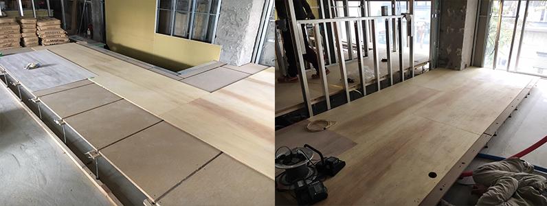 置床二重床掘りごたつ加工