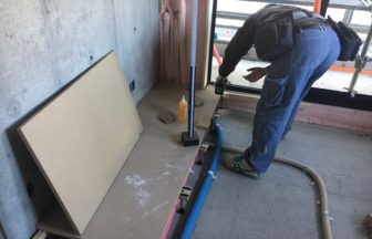 集合住宅アパート置床・二重床施工