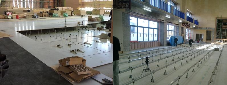 各種鋼製床下地置床式・組床式施工事例
