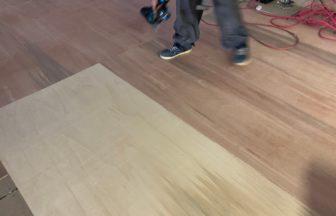 脱毛サロン様置床・乾式二重床、床先行工法及びラワン合板捨て貼り工事