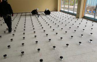 OAフロアレベル調整式新築工事