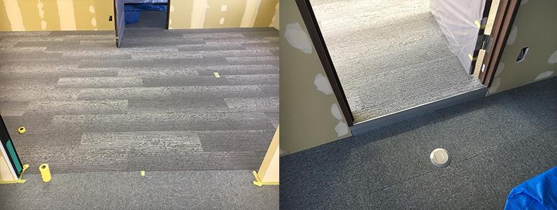 オフィス床タイルカーペット施工