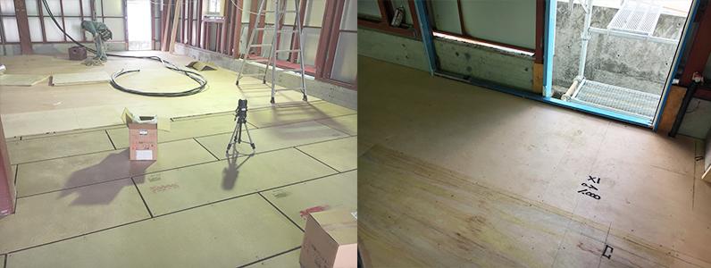 置床・乾式二重床レベル調整