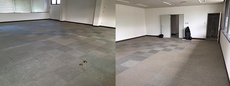 テナントダンススタジオ改修工事、置床・乾式二重床、ダンスフロア施工前