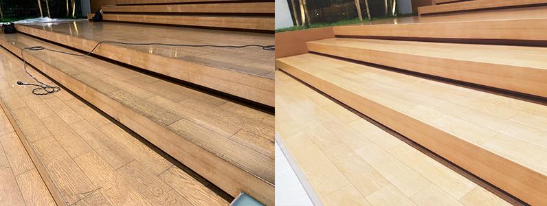 エントランス床研磨塗装施工前施工後ビフォーアフター
