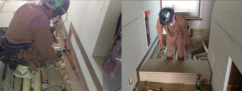 置床・乾式二重床フローリング下地材設置