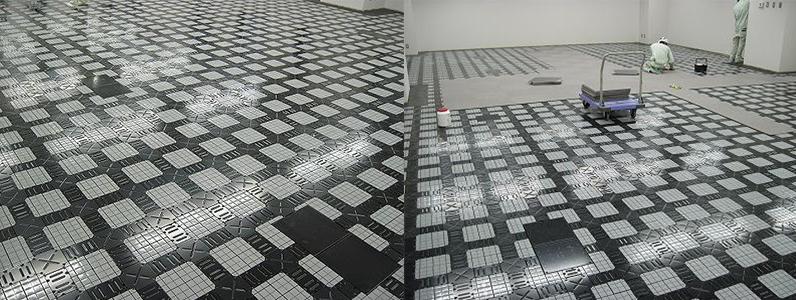 企業様オフィス配線溝式OAフロア施工