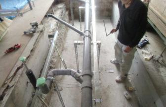 エントランス及び通路、鋼製床下地、部分改修施工
