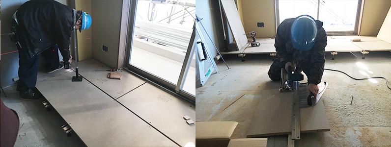 企業様新社屋置床・乾式二重床施工