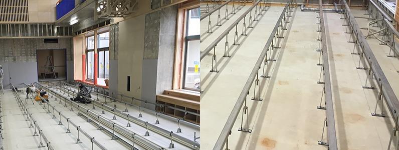 鋼製床下地組床式レベル調整