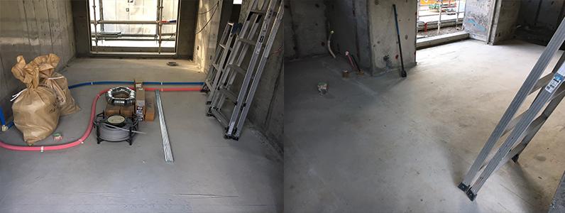 アパート置床・乾式二重床施工前