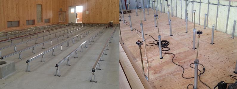 体育館用鋼製床下地組床式