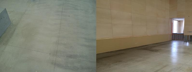 鋼製床下地組床式墨出し施工