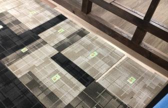 オフィスビルテナント改装タイルカーペットデザイン貼り施工