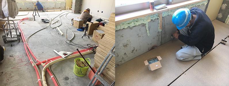 戸建て住宅パーティクルボード施工